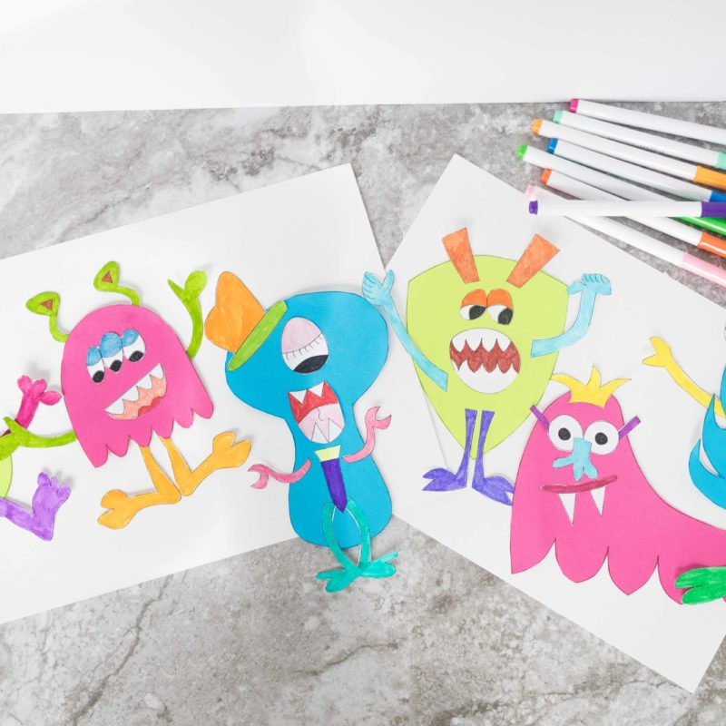 Matching Monsters Craft With Free Printable