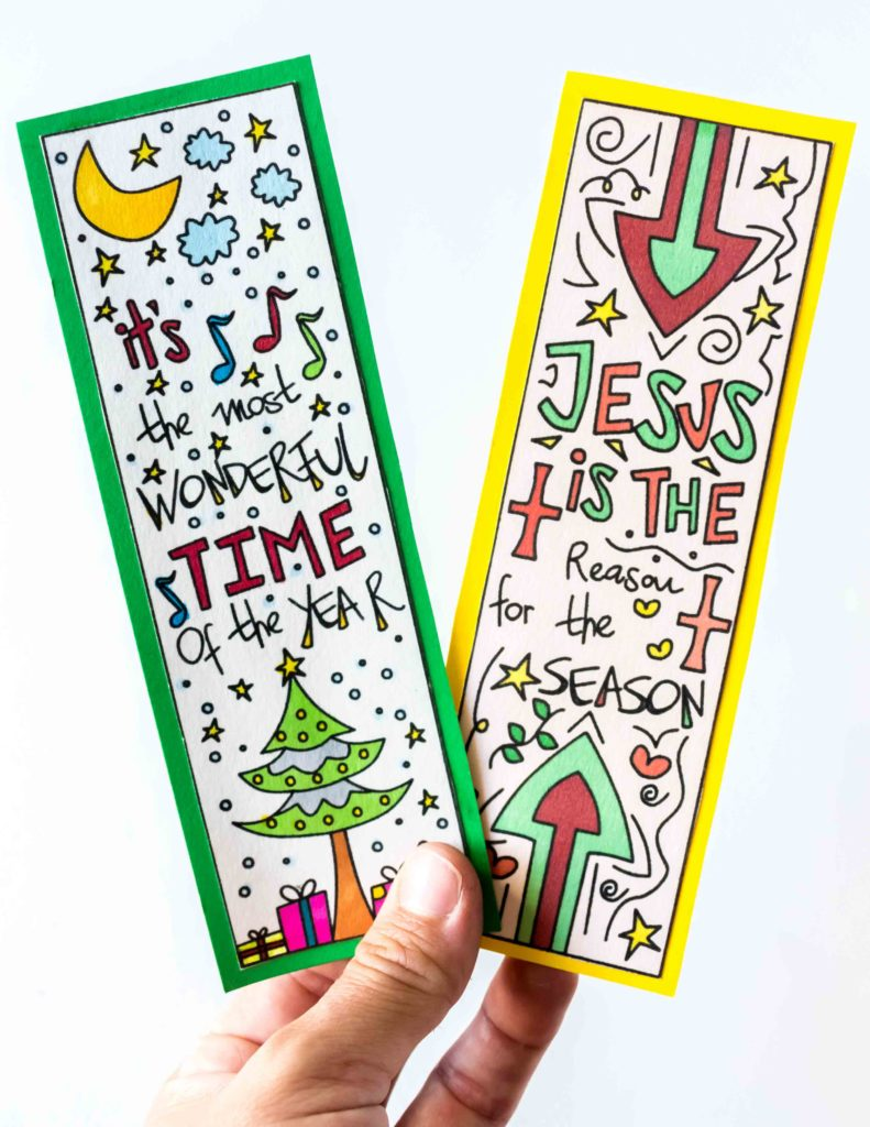 These hand drawn Coloring Christmas Bookmarks are so beautifully designed! Use them to mark your books, or to give as a present for your loved ones!