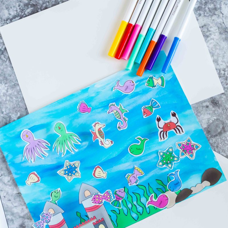 Easy and Cute Fish Tank Craft for Kids Free Printable
