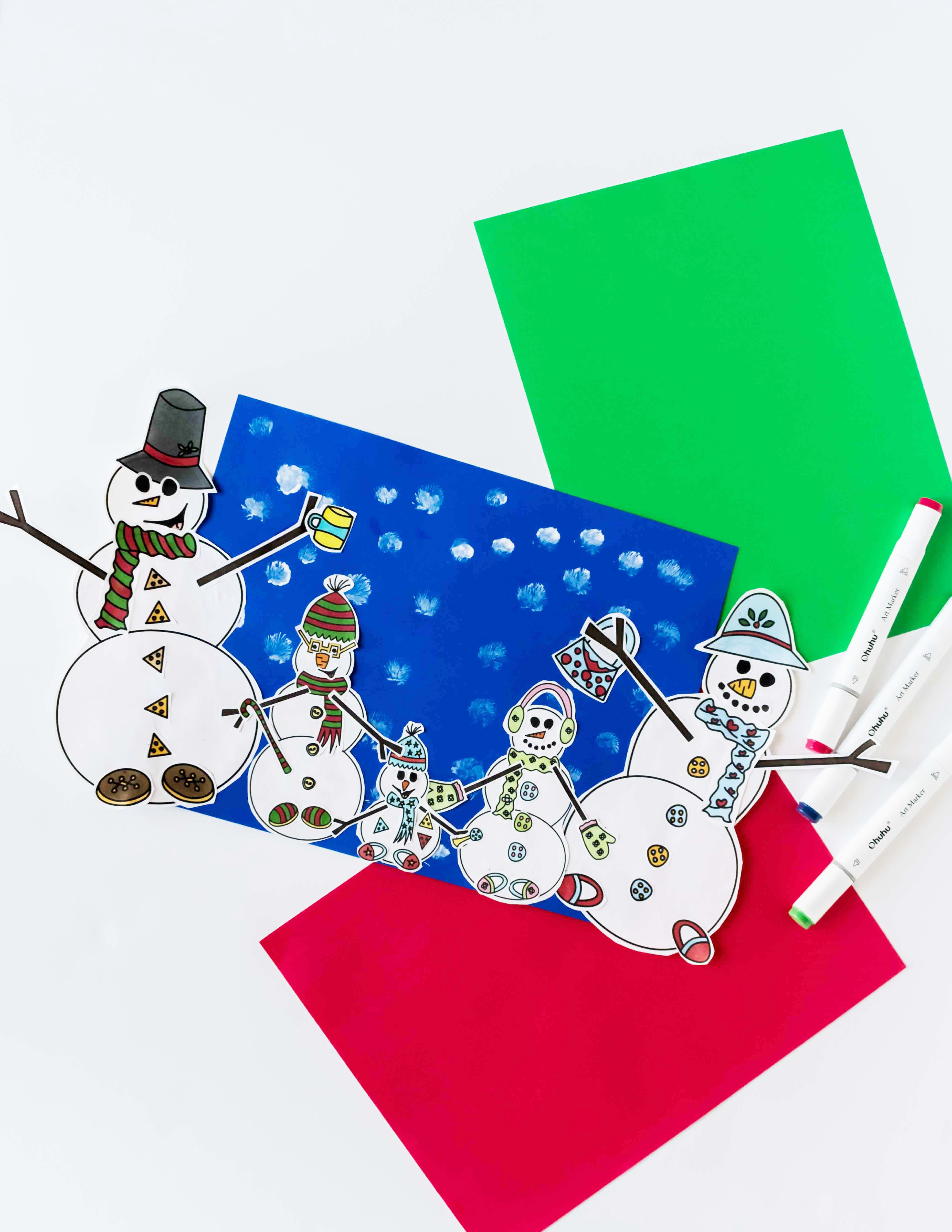 Sometimes it can be very cold outside and the little ones still need to have some fun! Am I right? No worries, I got you covered :) Come and get this Build The Snowman's Family Free Printable! A great indoor winter craft for your kids to have fun :)