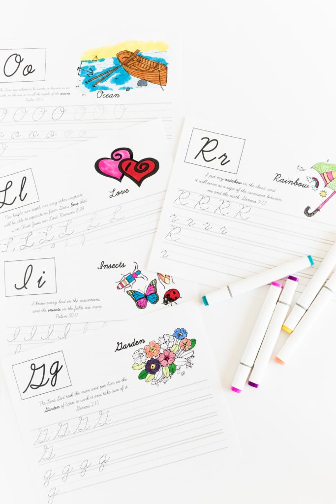 Tracing letters and learning new bible verses was never so easy for your kids! Get the Practice your Cursive ABC with Bible Verses - Free Printable! No tricks, no subscription needed.