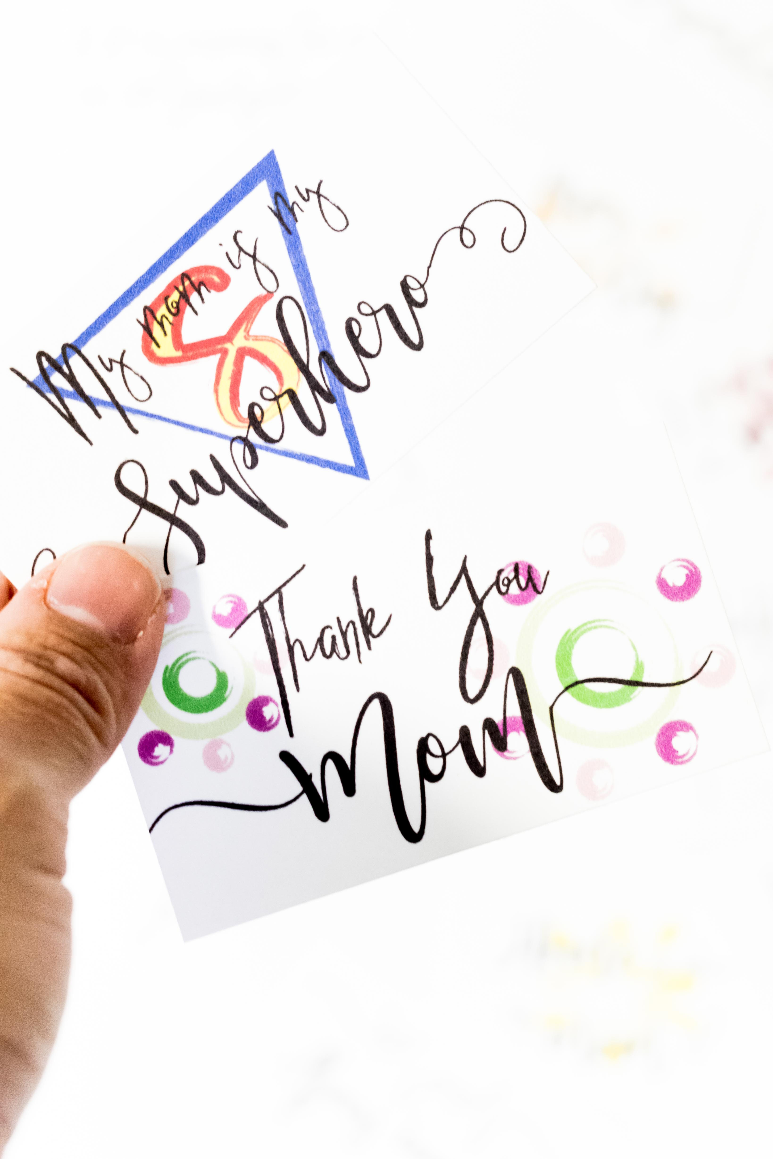 Since being a mother is one of the hardest job out there I believe all moms should be pampered and celebrated. That's why I designed these super cute Mother's Day Pocket Cards Free Printable. Print them out in color - or the coloring version if you want to add your own touch - and let her know how much she means to you!