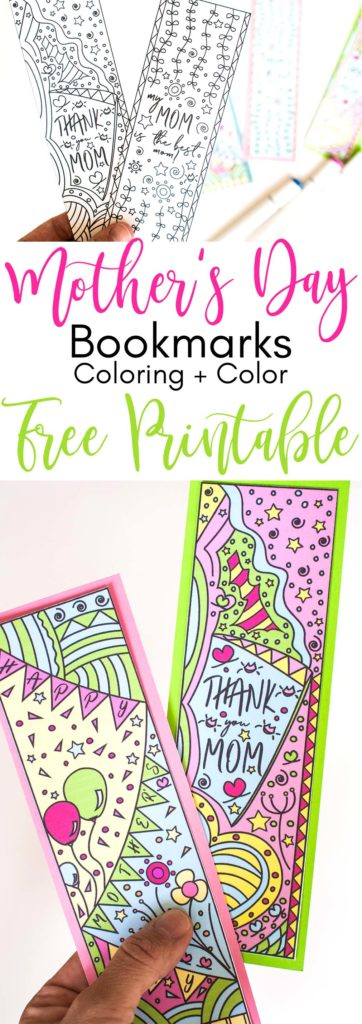 To celebrate this upcoming Mother's Day I designed these beautifulColoring Mother's Day Bookmarks Free Printable. Print them out, color them - or if you are not in the mood print the color version - and give them away to your mom, or any mom you know. Oh! and If you're one, don't forget to keep one for yourself.