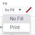 Screenshot of Fill option in Cricut Design Space