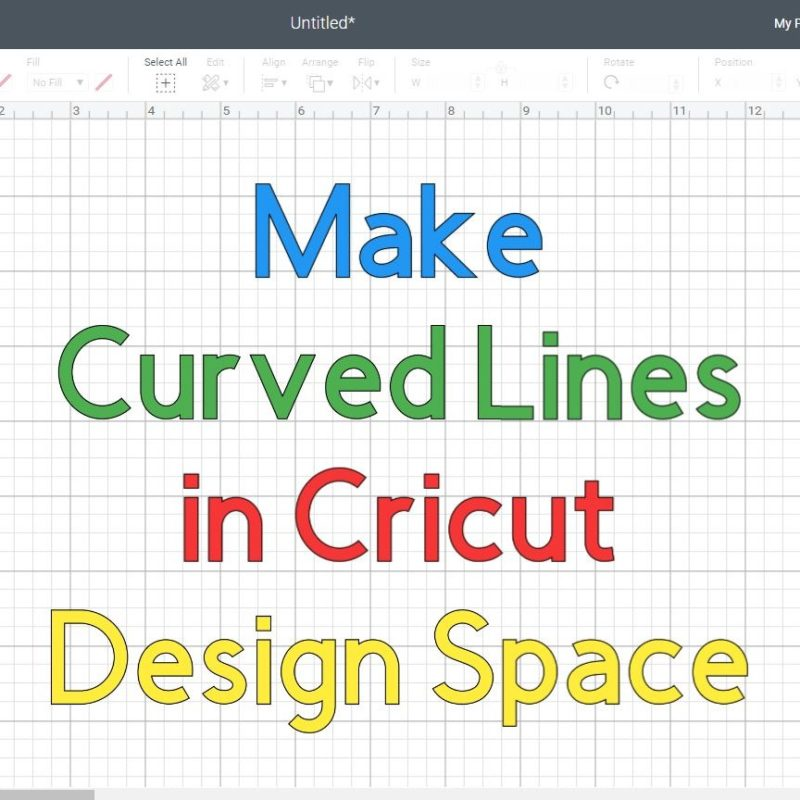 How to Make a Curved line in Cricut Design Space +Free SVG Curvy Lines