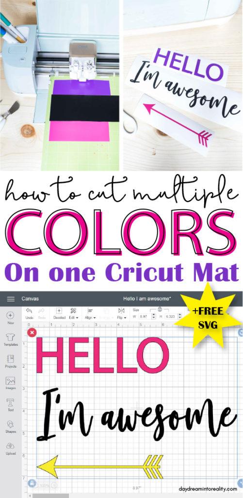 Learn how to cut multiple color on one single mat! Yay .... #cricut #cricutmade #cricuttutorials #cricutdesignspace #designspace #cricutmaker #cricutexploreair #cricutexploreair2 #freesvgfiles #freesvg #svgcricut #svg