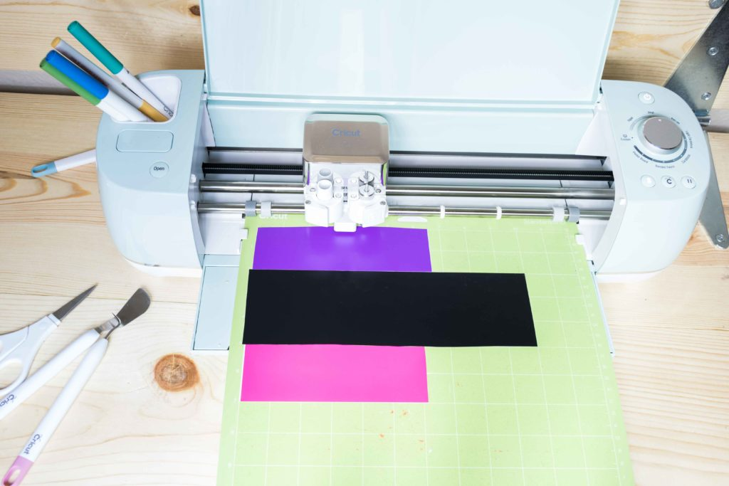 Cricut ready to cut a project in different colors on one mat