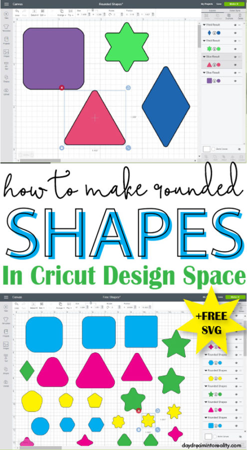 Are you losing your mind trying to Round Shapes in Cricut Design Space?   #cricut #cricutexplore #cricutmade #cricutmaterials #cricutdesignspace #designspace #cricutexploreair #cricutmaker #cricuttutorials
