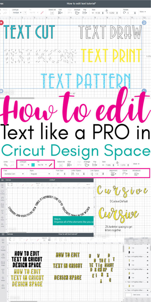 Learning how to edit text like a pro in Cricut Design Space has never been this easy!