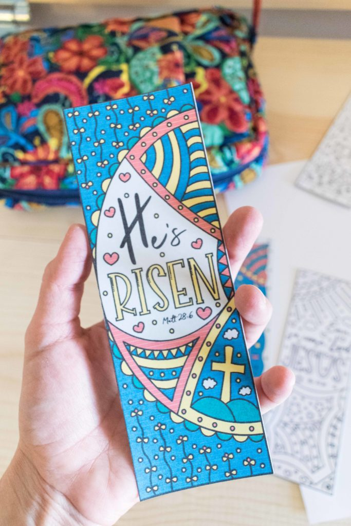 Hes Risen in Color Easter Bookmark