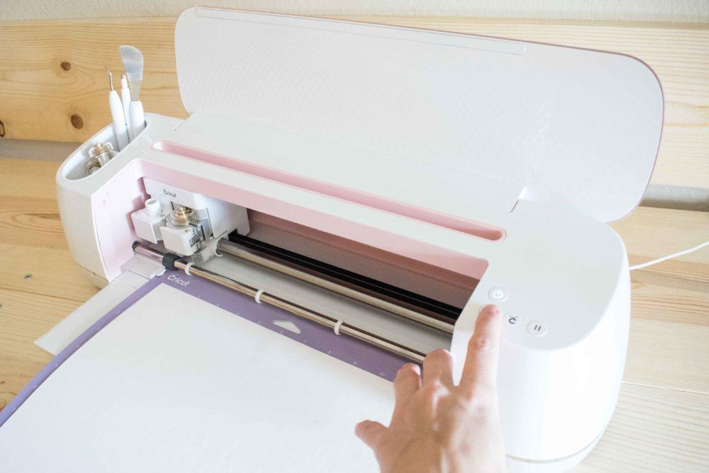 Ready to press go on Cricut maker to cut Pillow Box
