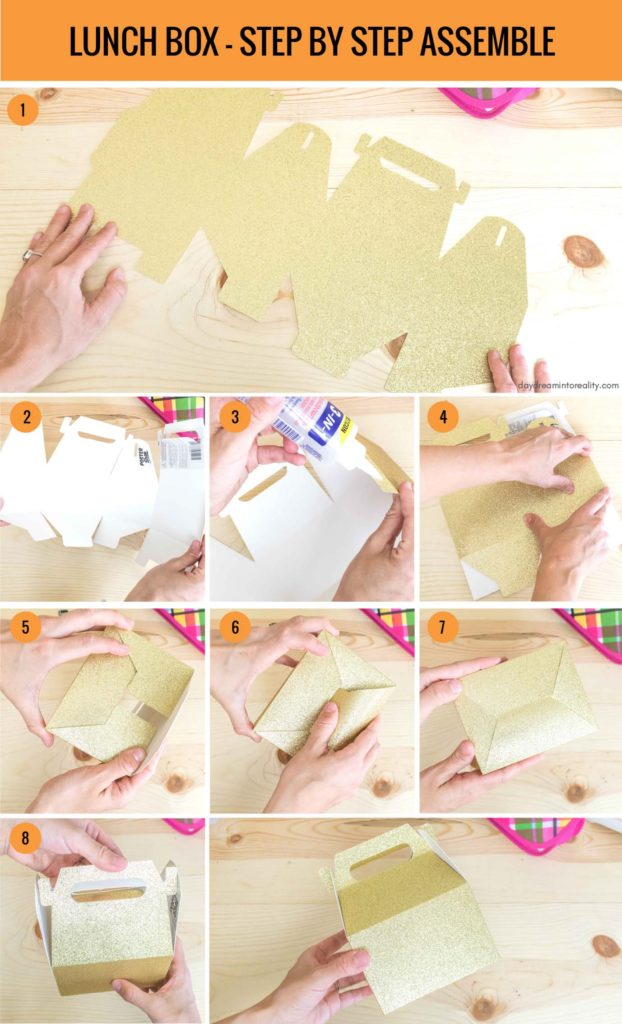 Lunch Box - Step by Step Assemble info-graphic