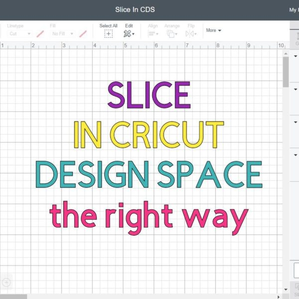 How to Slice in Cricut Design Space Post Title