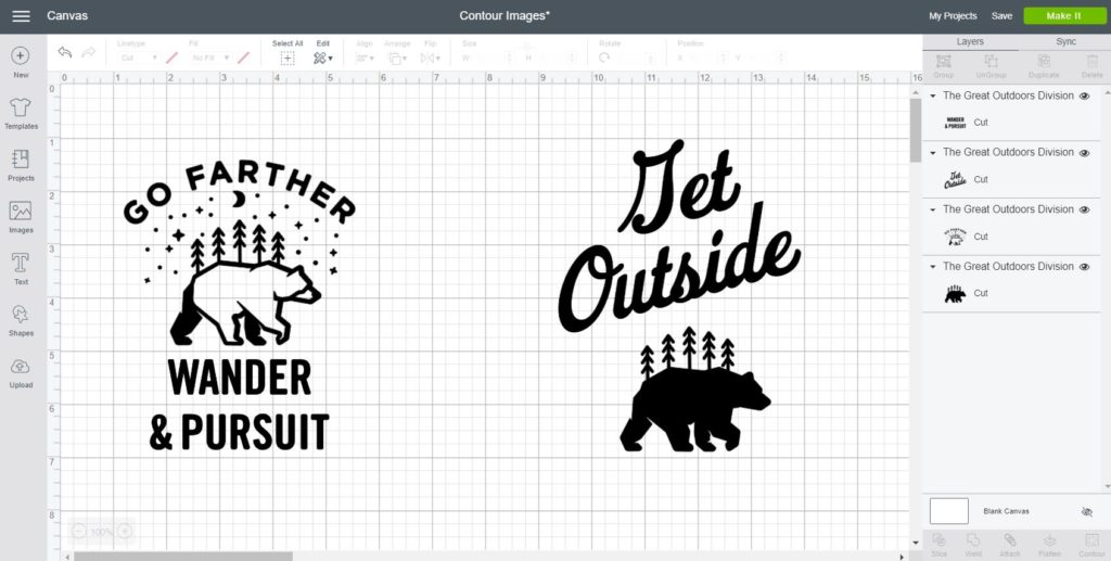 Create new designs and images with the contouring tool (from a previews one)