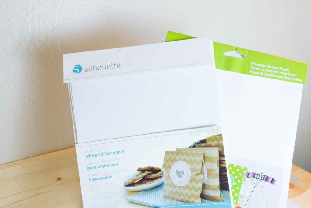 Silhouette sticker paper vs Cricut Printable sticker paper