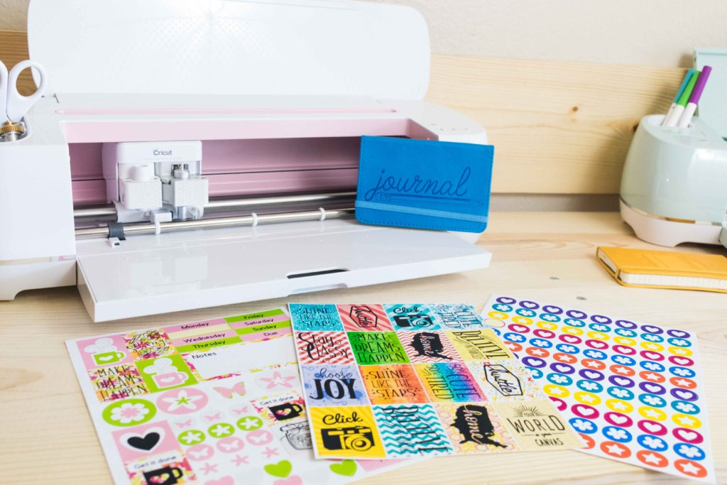 different stickers sheets made with the Cricut Maker