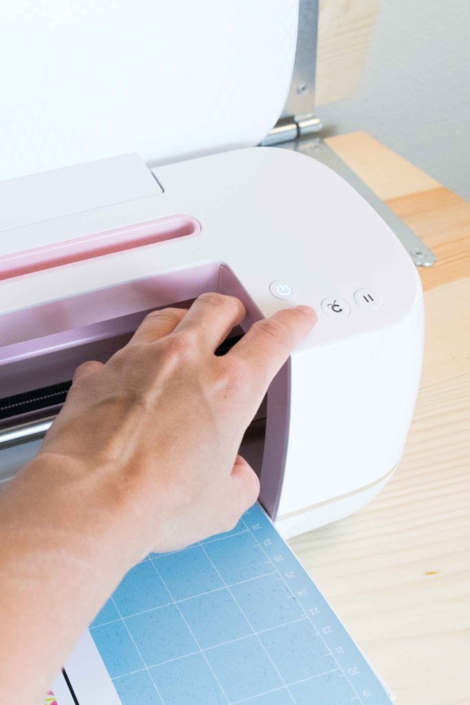 Unload the mat from your Cricut when you are done cutting