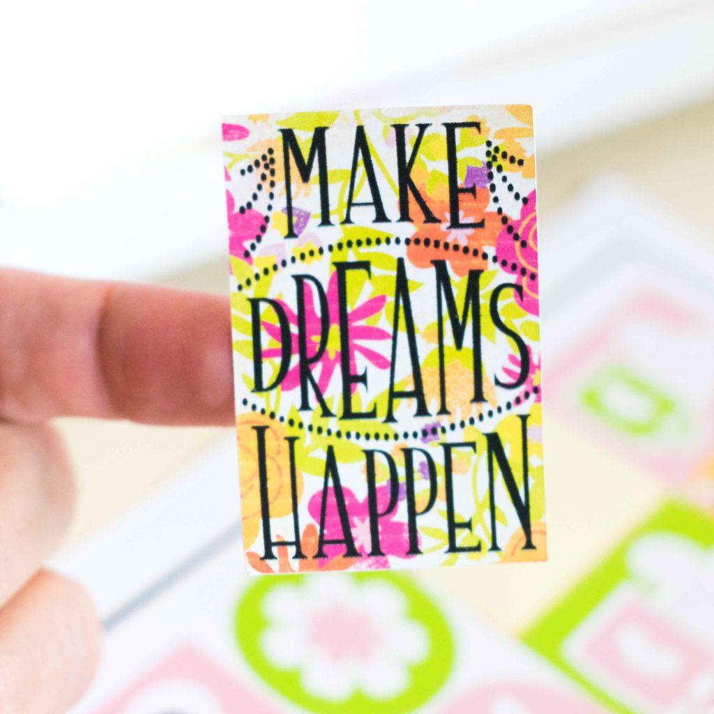 Cricut Sticker - Make dreams happen