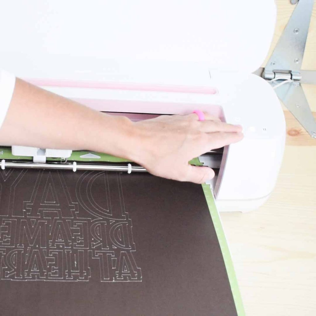 Unloading Mat after Cricut cuts the Infusible Ink transfer sheets