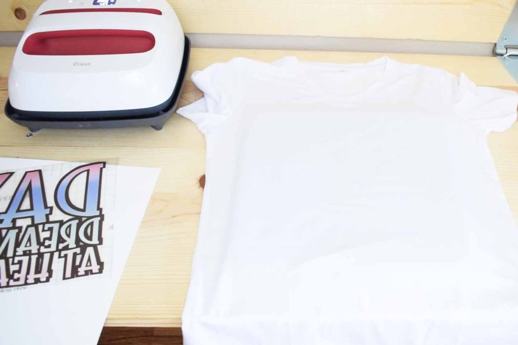 Supplies needed to transfer Cricut Infusible Ink transfer sheets