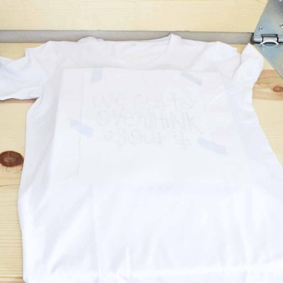 secure your drawing made with Infusible ink pens with Heat Transfer Tape