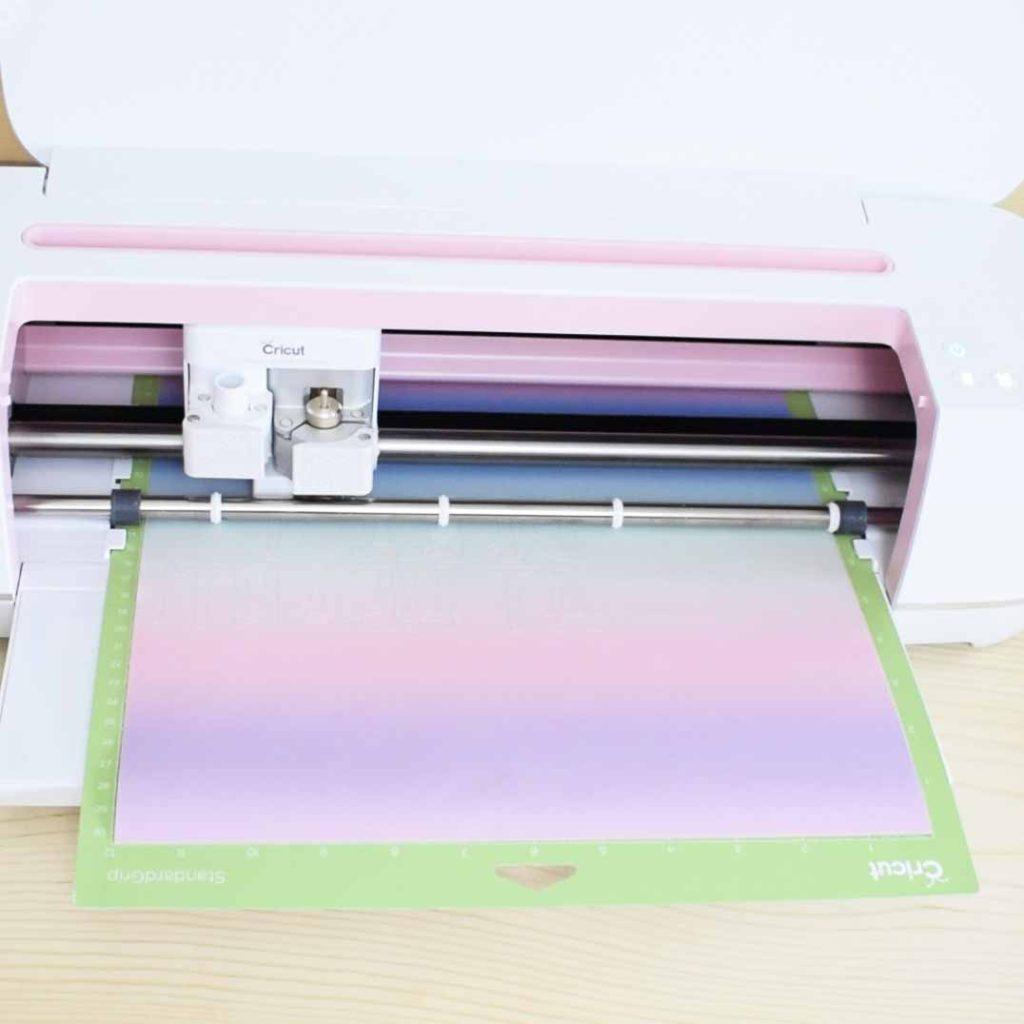 Cricut Maker cutting a Cricut Infusible Ink Transfer sheet