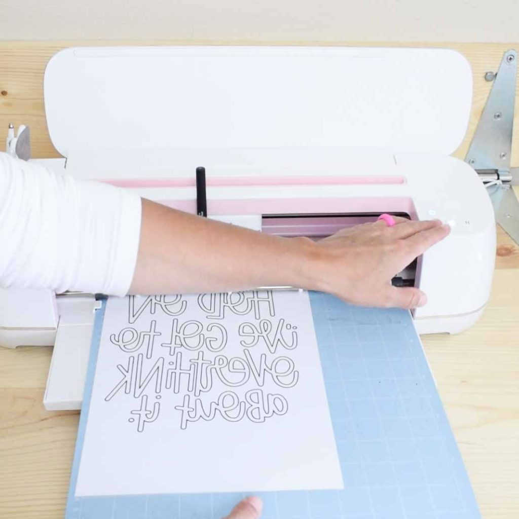 remove mat from Cricut machine