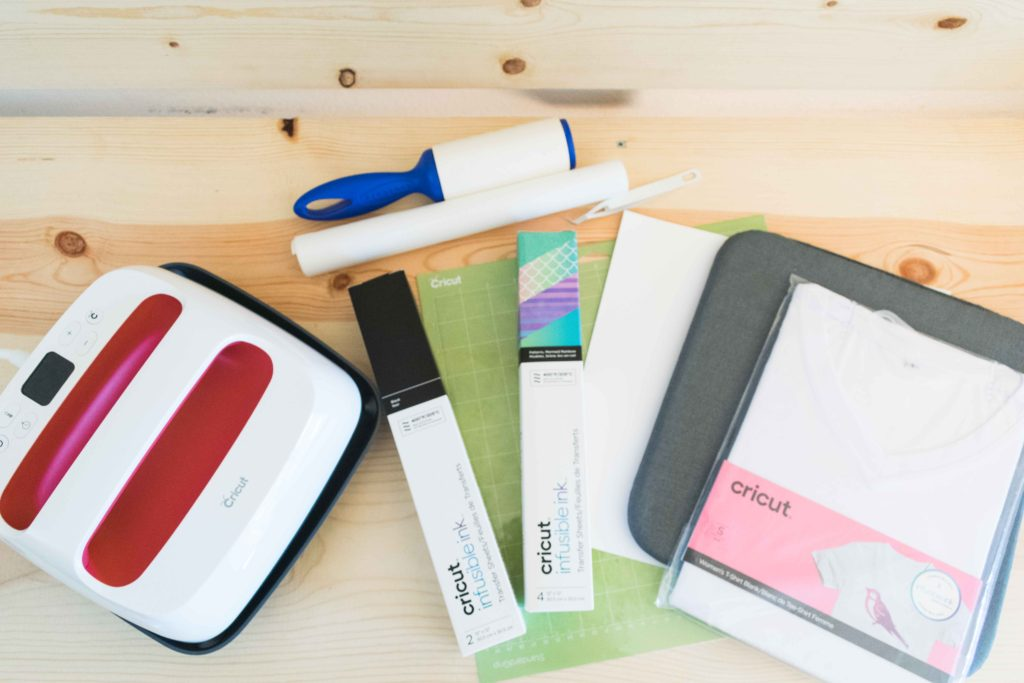 Materials you need to use to make T-Shirts with Cricut Infusible Ink Transfer Sheets
