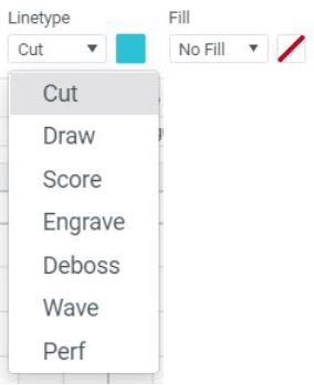 Linetype and Fill Icons