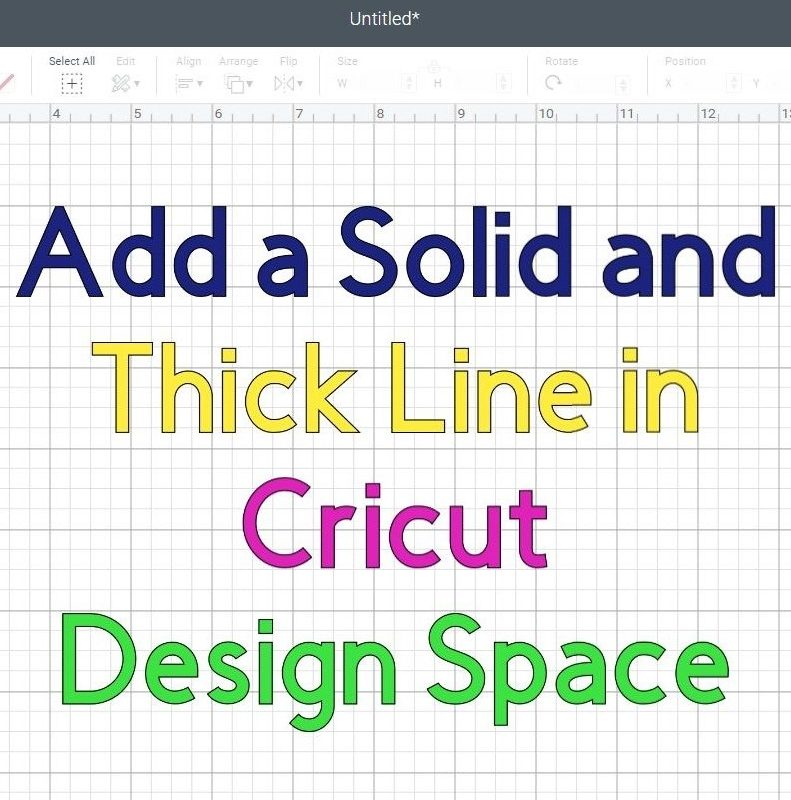 How to Add a Solid line in Cricut Design Space? (Thin and Thick)