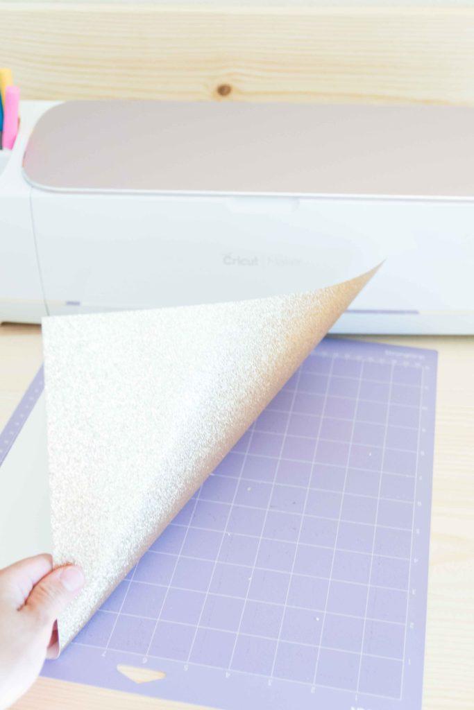 Place Paper on Cricut Mat
