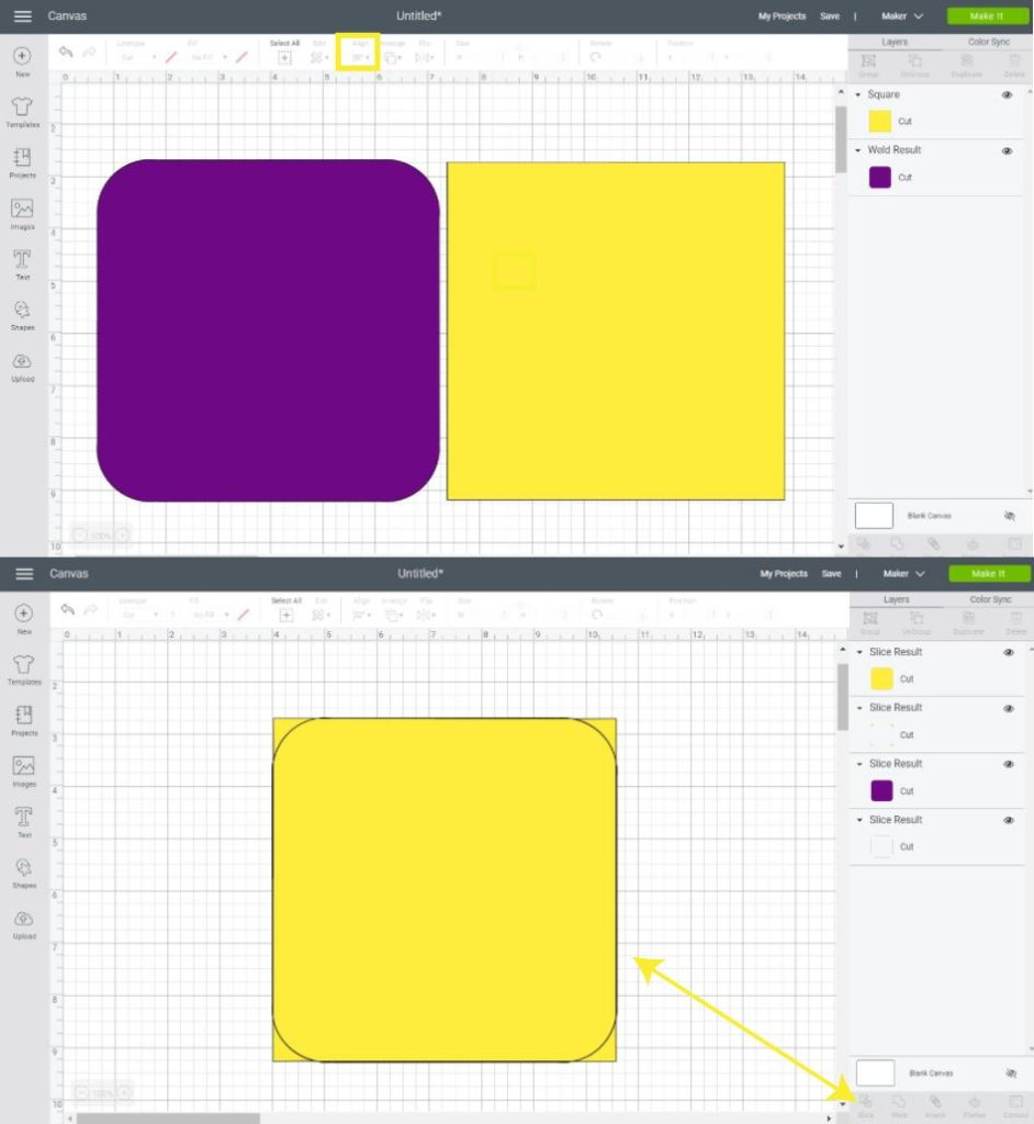 Creating a second square to smooth lines of the rounded one.