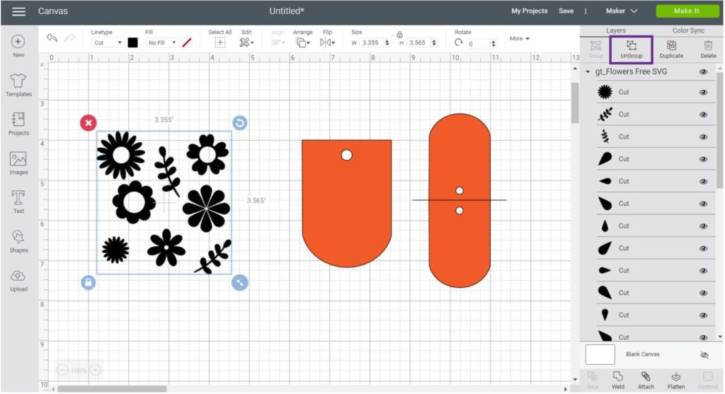 Organize File in Cricut Design Space