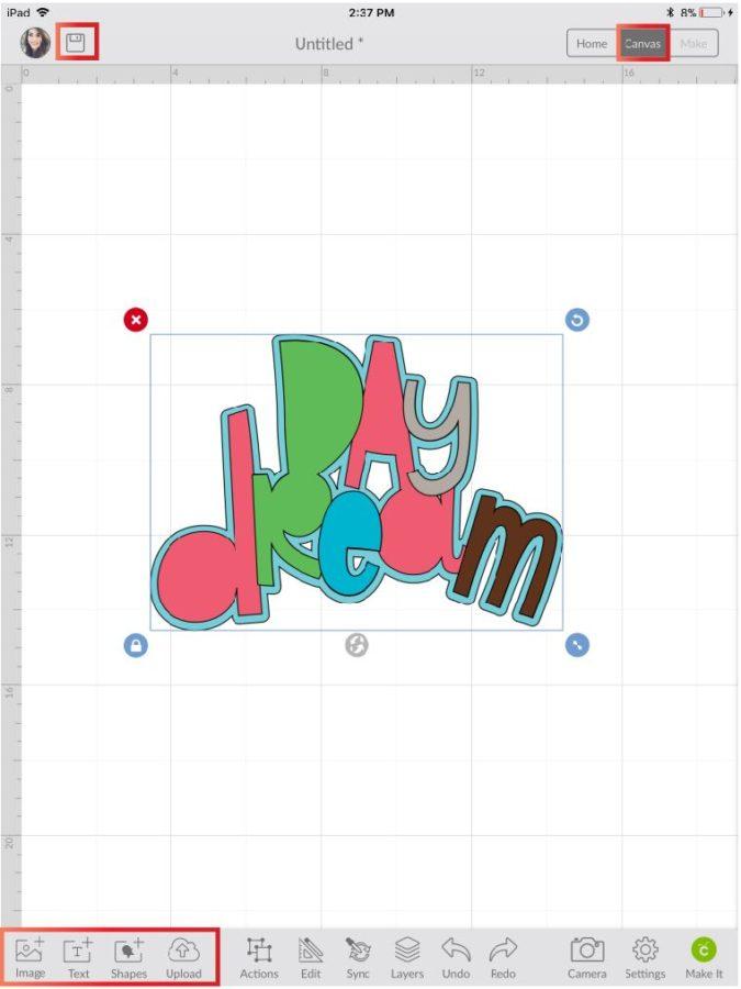 Image in Cricut Design Space App
