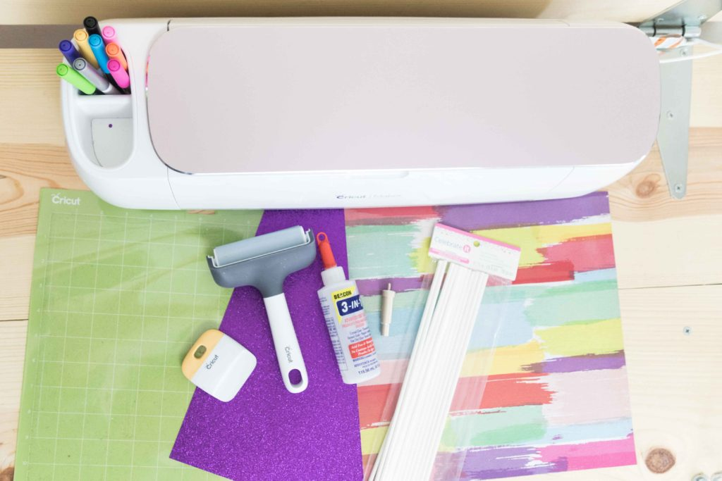 Materials you need to make a Cake Topper with the Cricut Maker or Explore