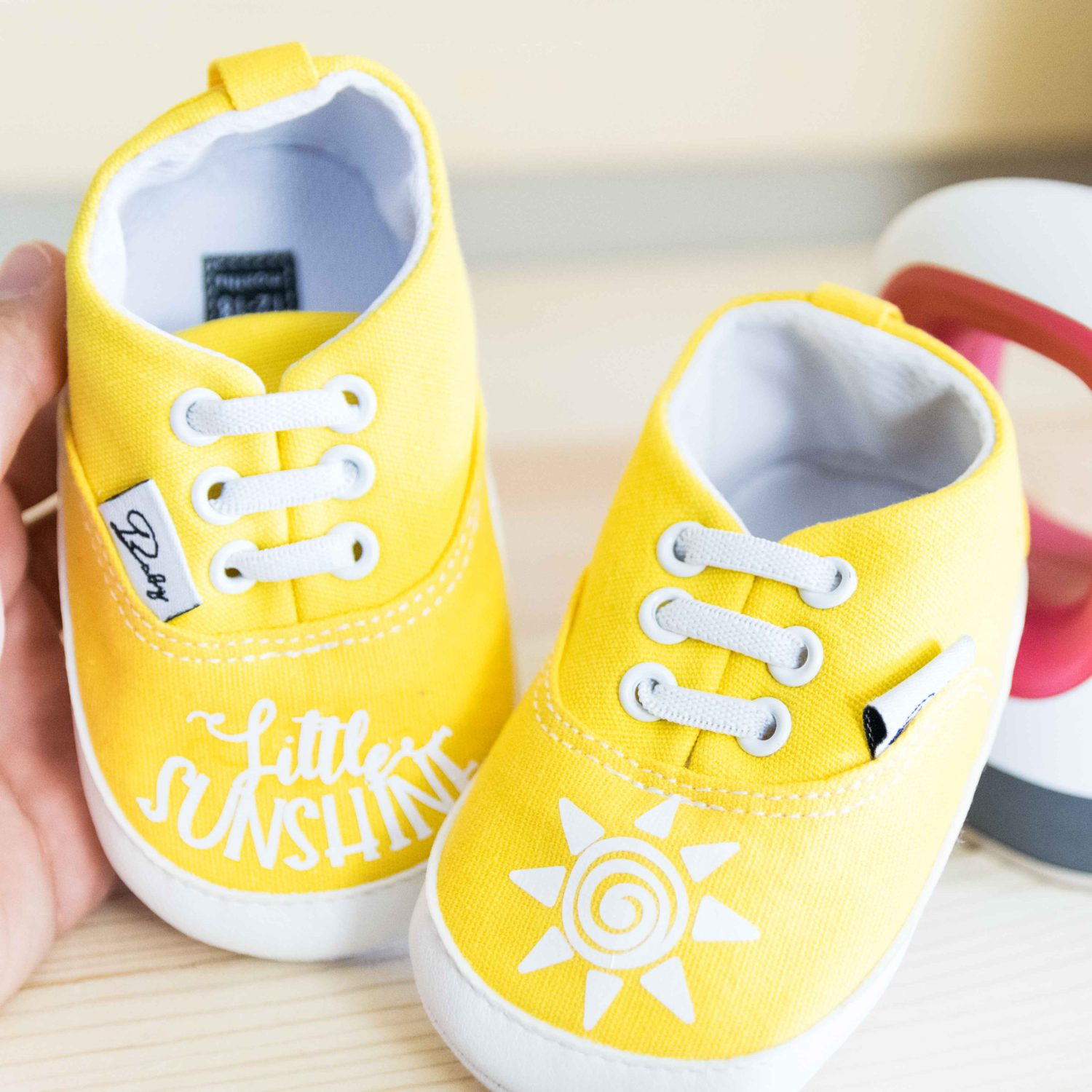 shoes made with the Cricut Easypress Mini