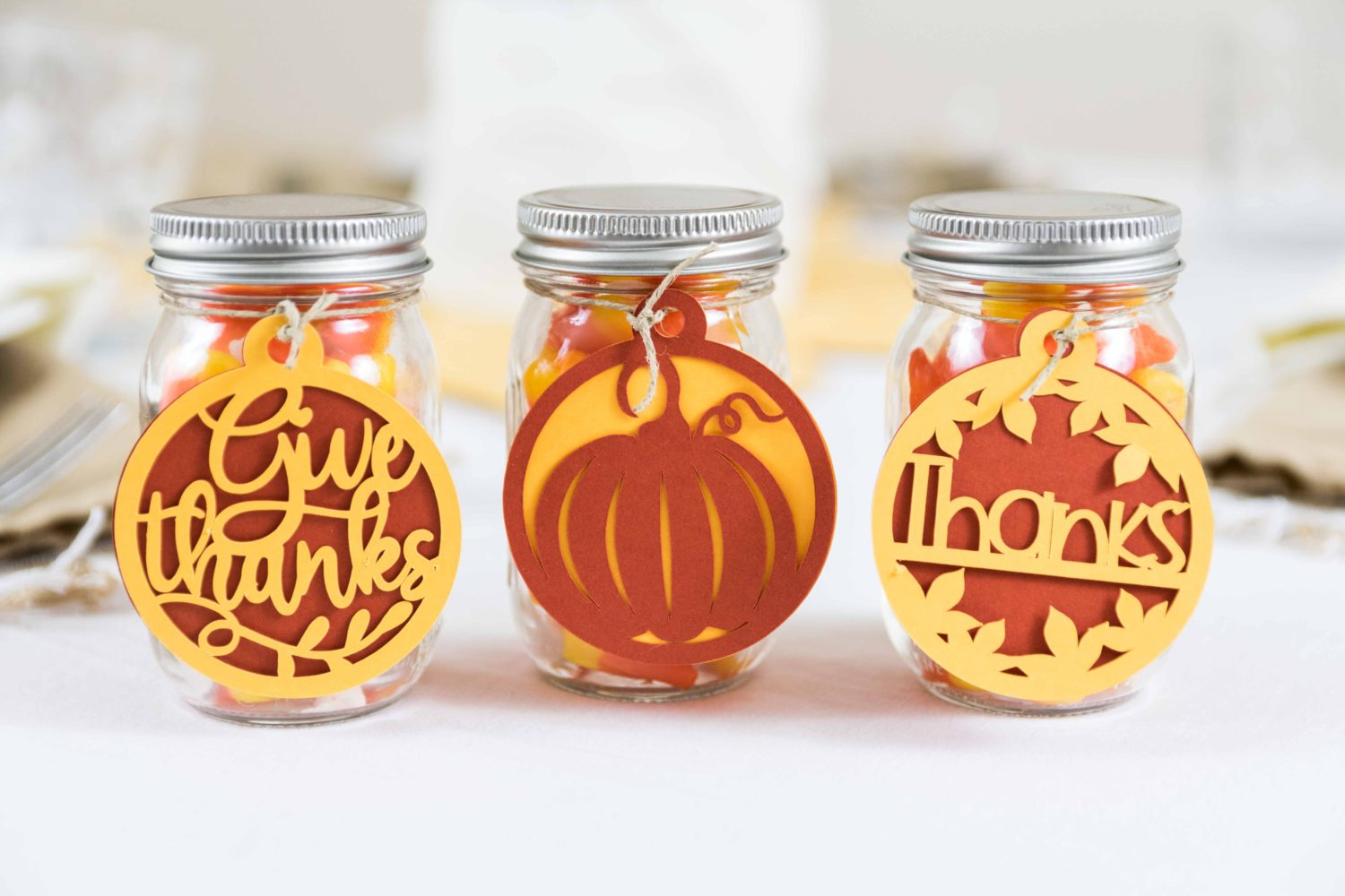 Fall Party Favors made with Cricut