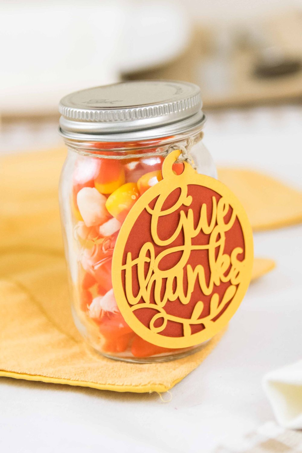 Party Favor and give thanks Gift Tag made with cricut