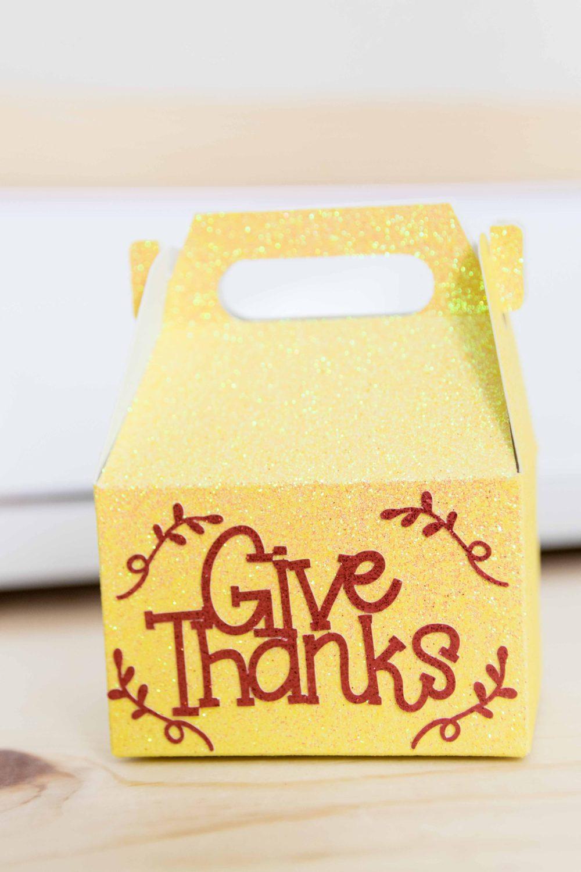 Fall Gift Box made with Cricut