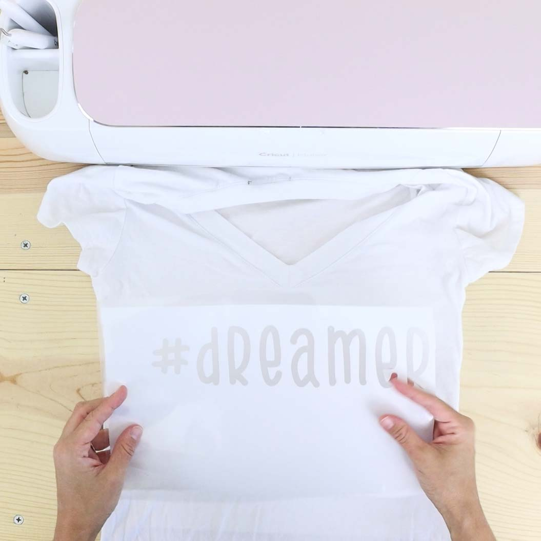 placing freezer paper on top of the tshirt