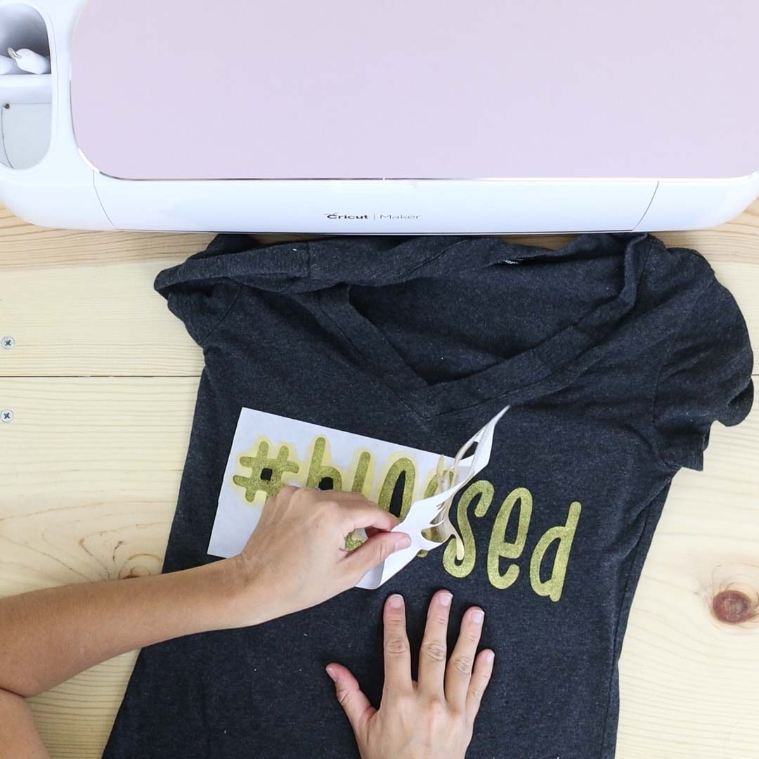 removing freezer paper after painting t-shirt