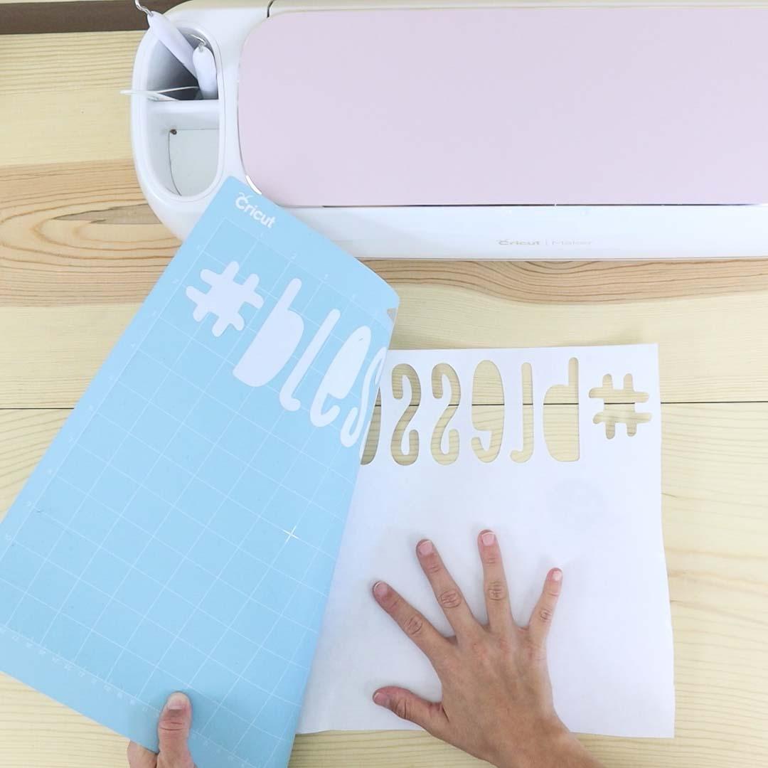 removing freezer paper from Cricut mat