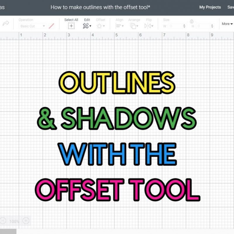 Offset Tool: Make Outlines & Shadows in Cricut Design Space