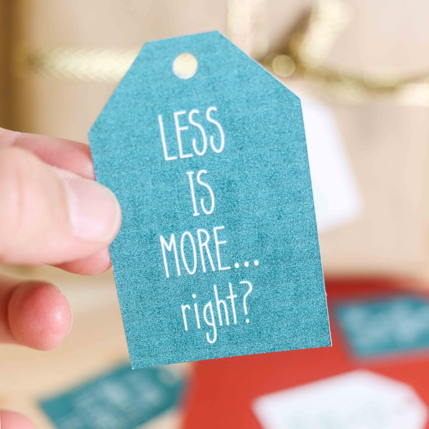 Less is More, right? Christmas Gift Tags