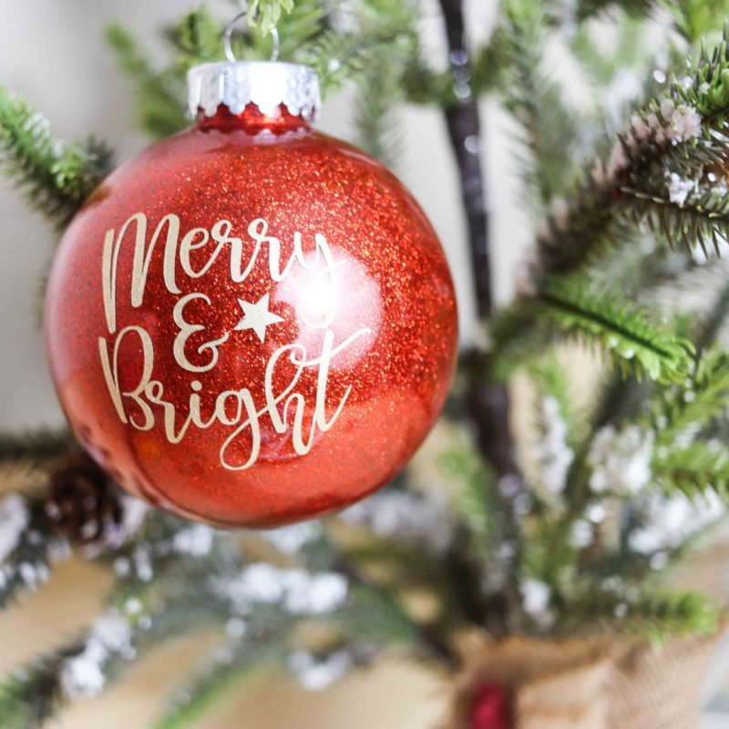 DIY Christmas Ornaments with Cricut, Glitter, Paint, & more!