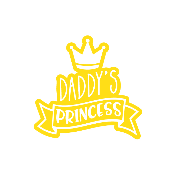 Daddy's princess free SVG