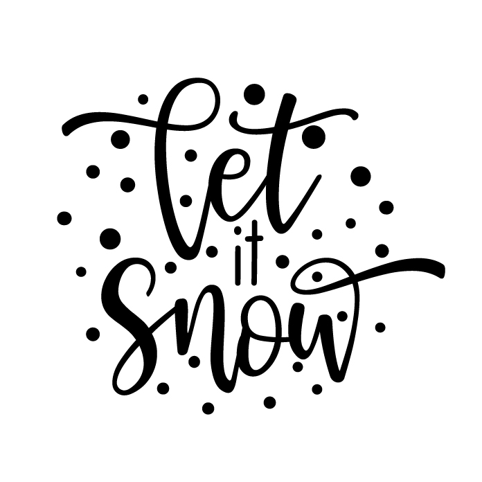 Let it snow Free SVG