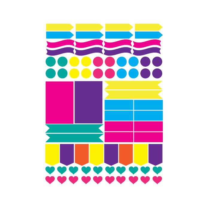 sticker sheet free svg layout