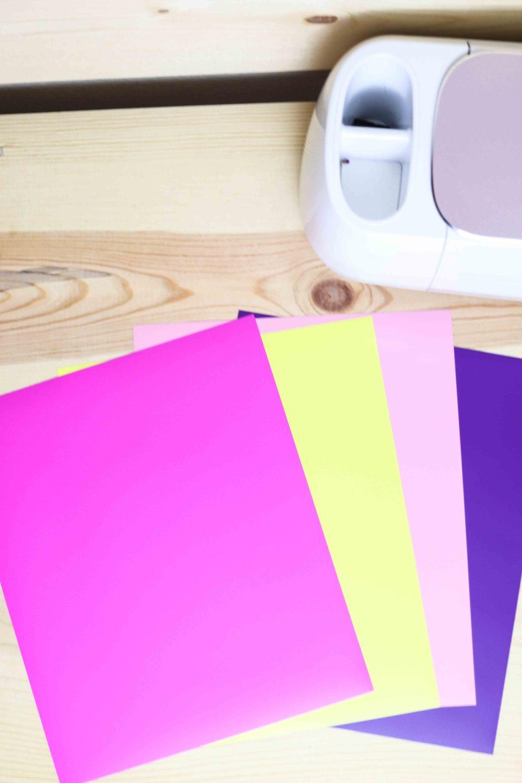 Individual sheets of vinyl