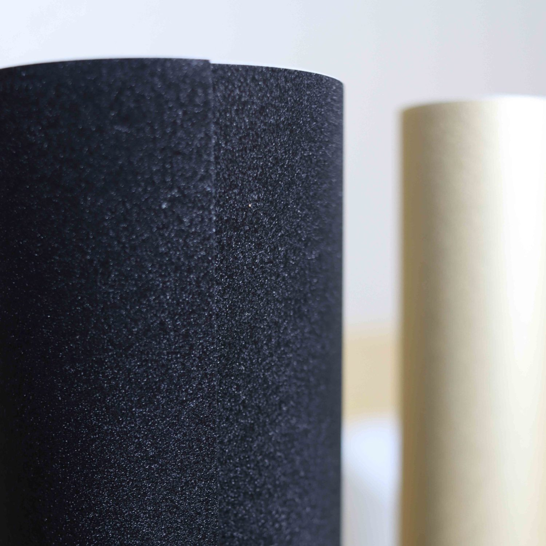 black adhesive glitter vinyl